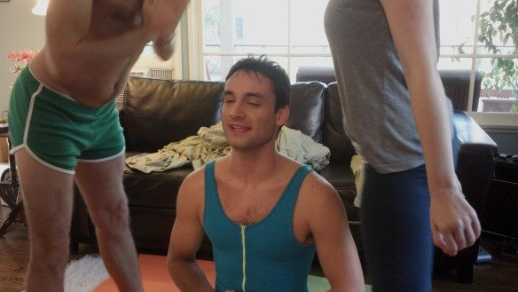 Still from Episode 1 of Josie & Dale: Bikram Shakra Transcendency Yoga