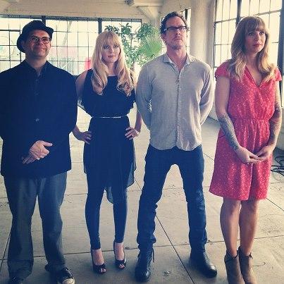 Dana Gould, Scott Shriner of Weezer & Jillian Lauren -- photo by Zach Smith