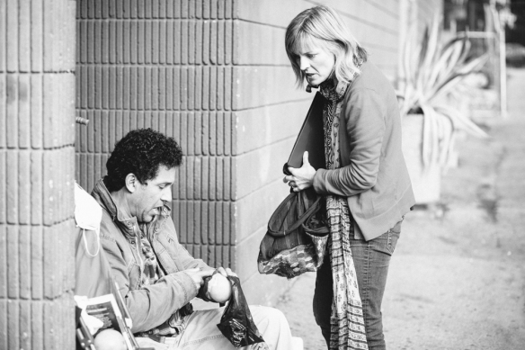 Oscar Nuñez  and Maria Bamford in The Program