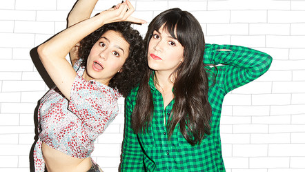 Ilana Glazer and Abbi Jacobson, creators and stars of web series turned TV show: Broad City